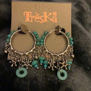 MWT - Turquoise & Silver earrings